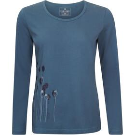 Elkline Posy Langarm-Shirt Damen darkocean